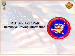 JRTC and Fort Polk Defensive Driving