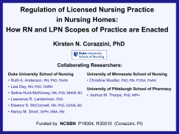 The RN-LPN regulatory challenge in nursing homes