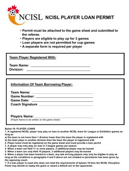 Player Loan Permit