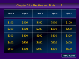 Chapter 31 Jeopardy Review A
