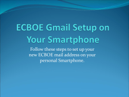ECBOE Email Setup on Personal Devices