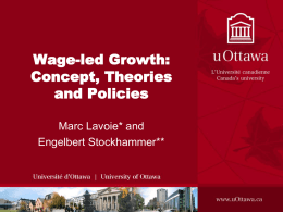 Concept, Theories and Policies - Geneva. w/ Engelbert Stockhammer