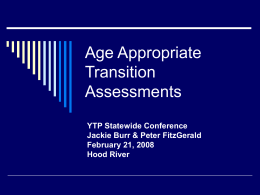 Age Appropriate Transition Assessment Presentation