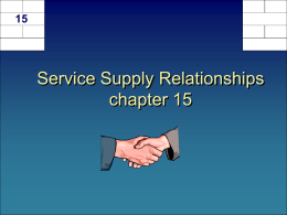 Service Supply Chain Management