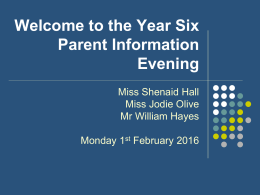 Year 6 Parent Information
