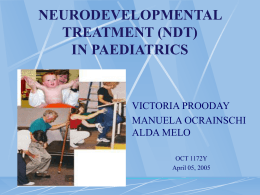 NEURODEVELOPMENTAL TREATMENT (NDT)