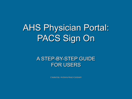 Physician Portal - ahsiconnect.net AHS Physician Portal