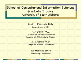 GRAD-SENIOR DESIGN - School of Computing