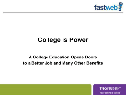 College Is Power
