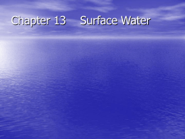 Chapter 13 Surface Water