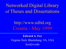 Networked Digital Library of Theses and Disertations ()