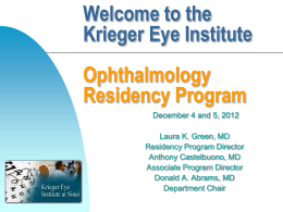 The Krieger Eye Institute