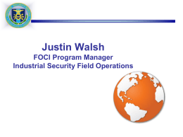 DSS Command Brief - Florida Industrial Security Working Group