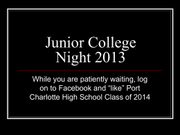 Junior College Night 2013 - Career Information Center