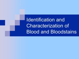 blood detection