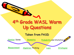 4th Grade WASL Warm Up Questions