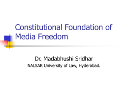 Constitutional Foundation of Media Freedom
