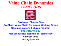 PowerPoint Presentation - MIT - Communications Futures Program