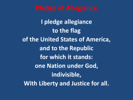Pledge of Allegiance and National Anthem