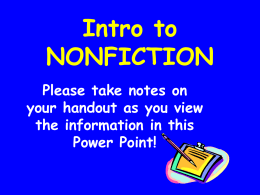 Elements of Nonfiction PowerPoint