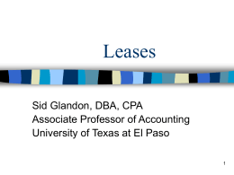 Accounting For Leases Chapter 22
