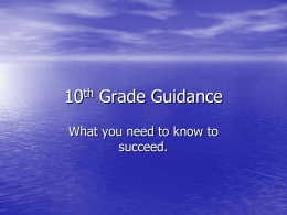 10th Grade Guidance - Glasgow Independent Schools