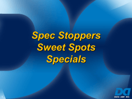 Spec Stopper - Data Aire, Inc.