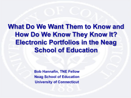 NEAG School of Education - University of Connecticut
