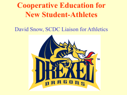 Cooperative Education for New Student-Athletes