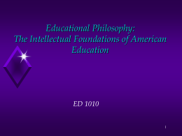 Chapter 6 Educational Philosophy
