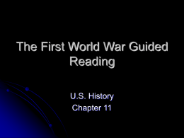 The First World War Guided Reading