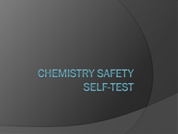 Chemistry safety
