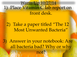 Americas most unwanted bacteria worksheet answers