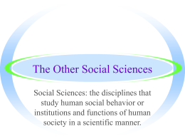 Social Sciences PPT