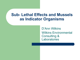 Sub- Lethal Effects and Mussels as Indicator Organisms – D`Ann