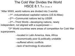 The Cold War Divides the World Ch. 33 sec. 4