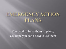 Emergency Action Plans - Black Swamp Safety Council