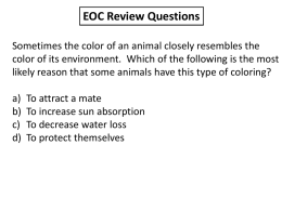EOC Review Questions - RS Central High School