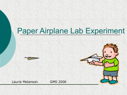 Paper Airplane Lab Experiment