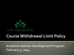 Course Withdrawal Limit Policy Presentation