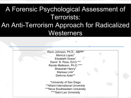 A Forensic Psychological Assessment of terrorists: an anti