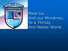 About Us - Bob C. Ross Ministries