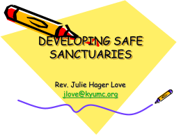 Safe Sanctuaries Training