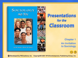 Chapter 1: An Invitation To Sociology