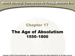 chap 17 absolutism presentation