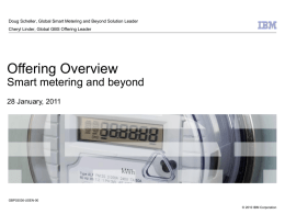 Advanced Meter Management/Infrastructure IBM`s Global