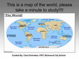 Map quiz (Grade 1, 2, and 3)