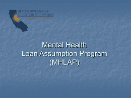 MHLAP PowerPoint
