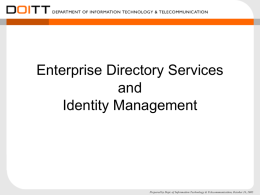 Enterprise Directory Services