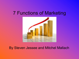 7 Functions of Marketing - Westbrooks-Wiki